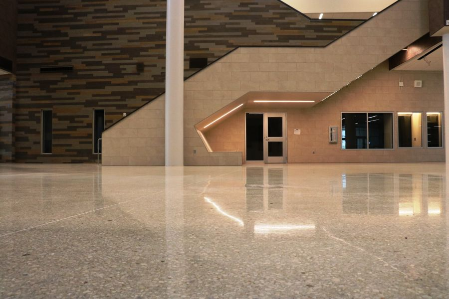 decorative concrete in olathe west high school