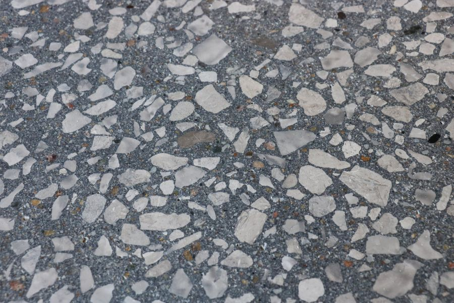 heather grey textured decorative concrete