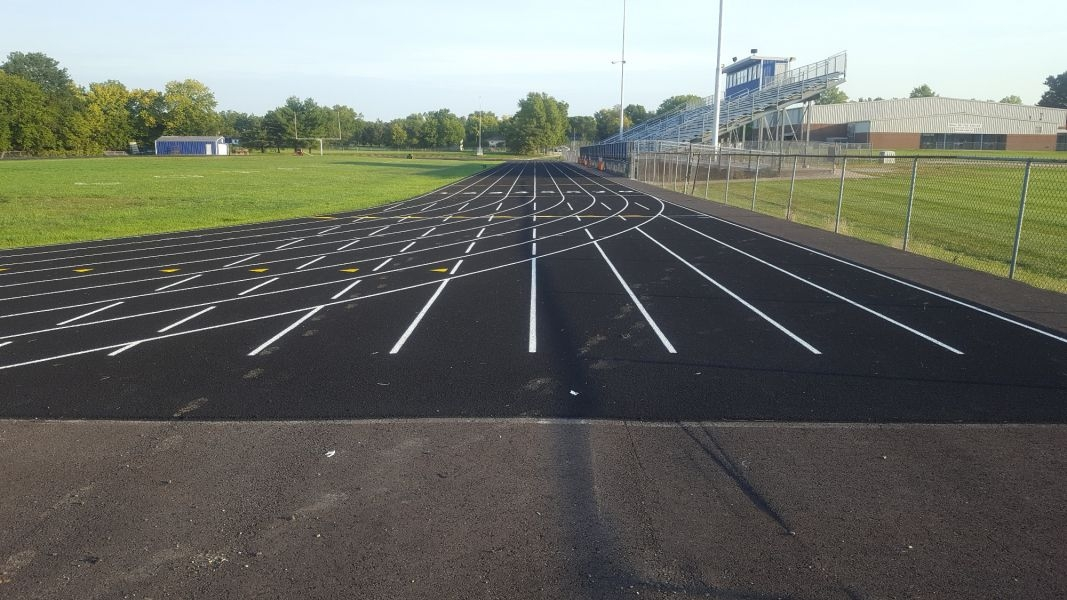 Wellsville High School Track finished by asphalt contractors