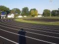 Wellsville High School Track made of asphalt paving and white painted lines