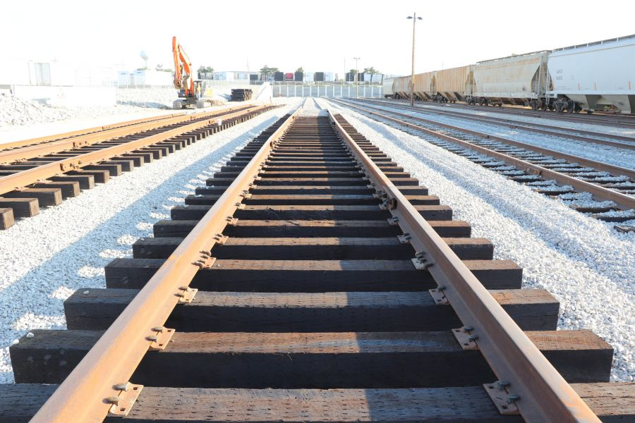 brand new railroad tracks constructed by A&M Pet Supply Manufacturing Plant