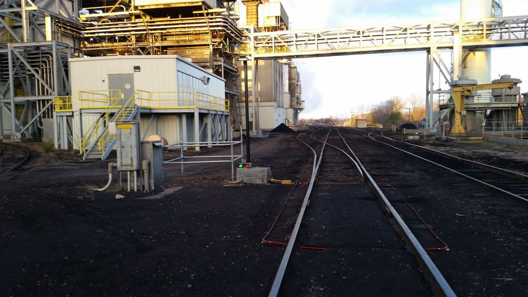 new railroad tracks being built at Westar Energy