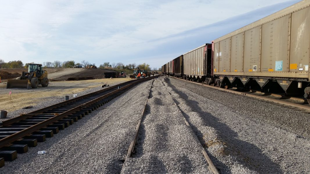 new railroad being constructed at Westar Energy