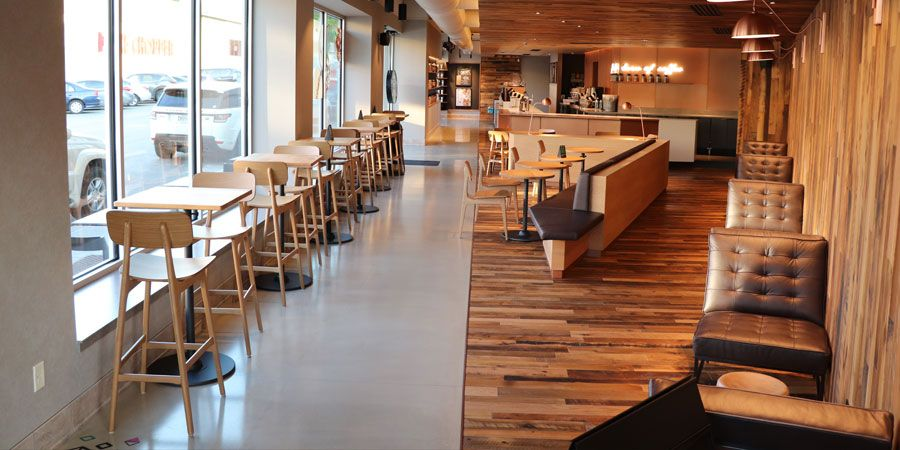 Decorative Concrete within Restaurant